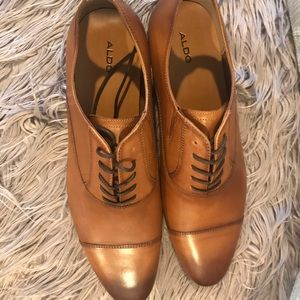 Aldo men's dress shoes cognac ombre